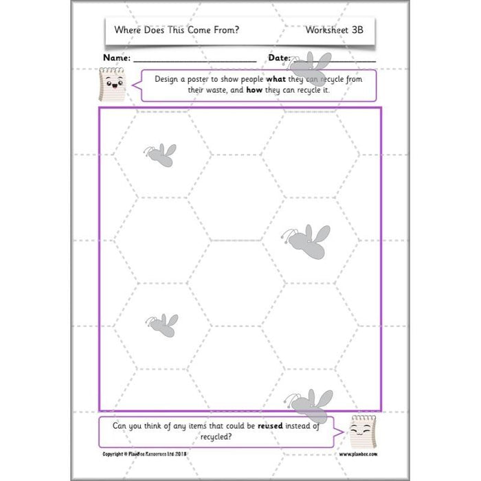 PlanBee Sustainability for Kids | Recycling KS1 Lesson by PlanBee