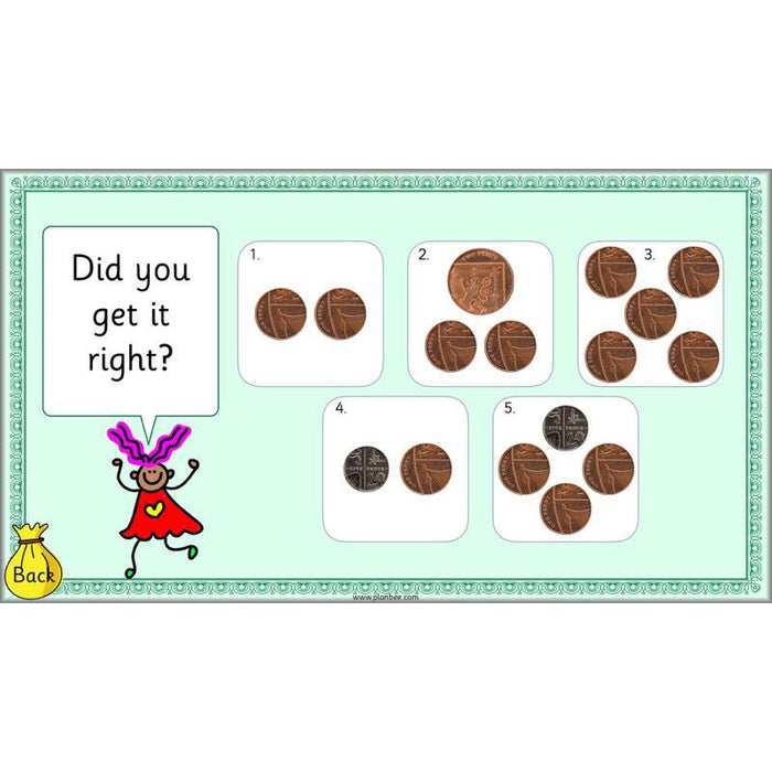 PlanBee Let's find the value of coins - KS1 fun maths money lesson plans