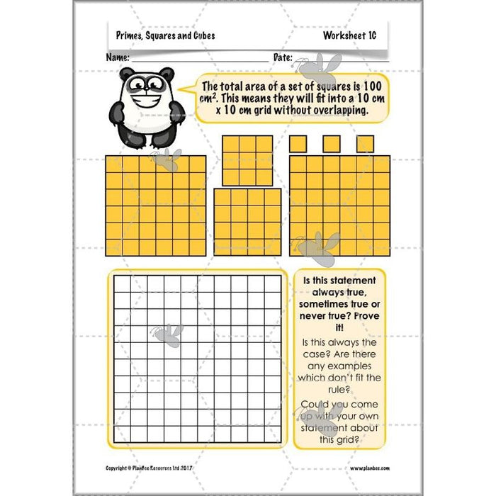 PlanBee Primes, Squares & Cubes - Year 5 Maths Planning & Resources - PlanBee