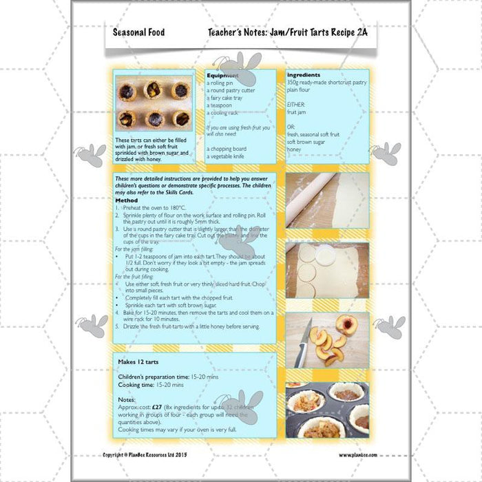 PlanBee Seasonal Food: Seasonality KS2 cooking planning and recipes | PlanBee