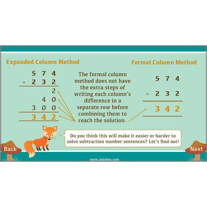 PlanBee Exploring Subtraction - Addition & Subtraction Year 4 Maths Lessons