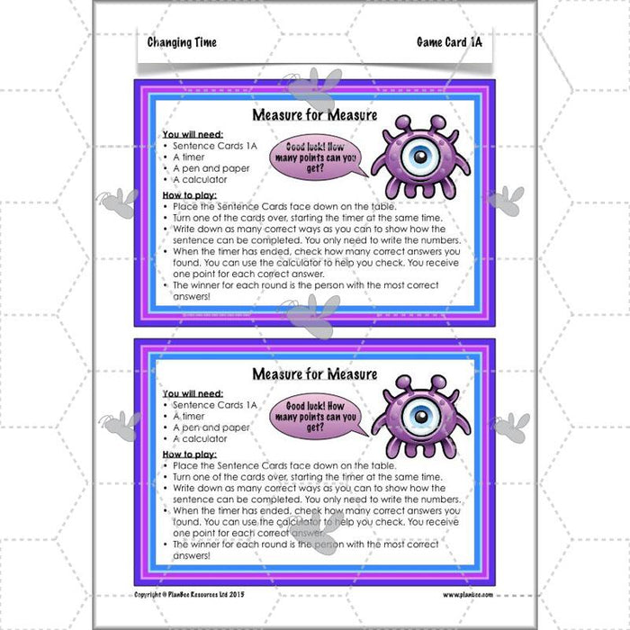 PlanBee Changing Time Year 5 Maths Lesson Planning Pack