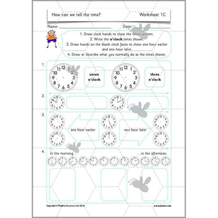 PlanBee Year 2 Time Lessons KS1 | How can we tell the time?