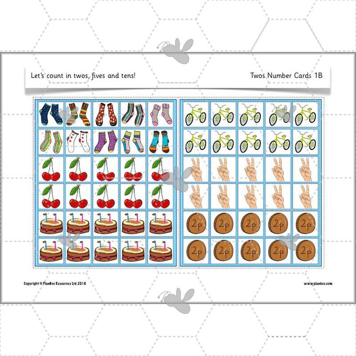 PlanBee Let's count in twos, fives and tens - KS1 Year 1 Maths