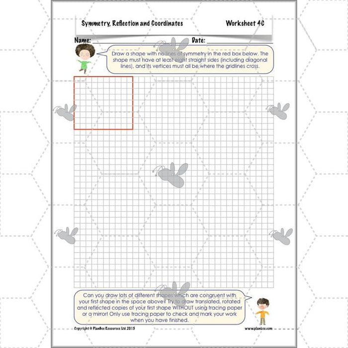 PlanBee Symmetry, Reflection & Coordinates Year 5 Maths