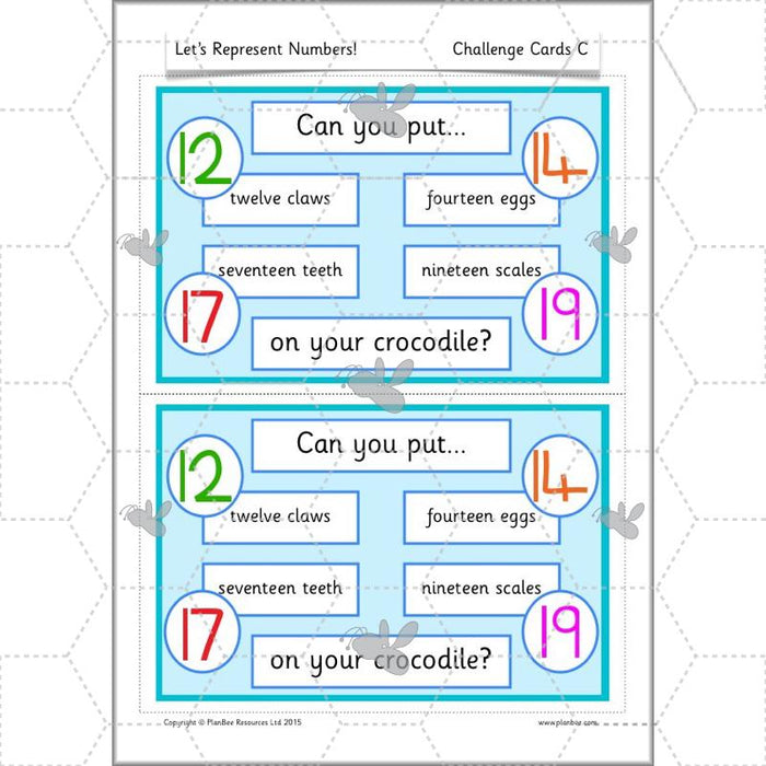 PlanBee Let's Represent Numbers Year 1 Maths by PlanBee