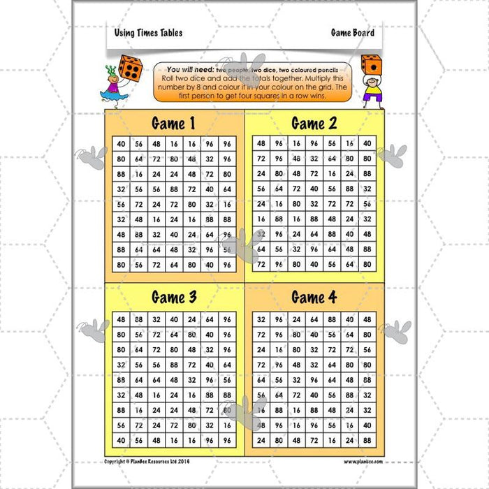 PlanBee Using Times Tables: Year 3 PlanBee Maths Multiplication & Division
