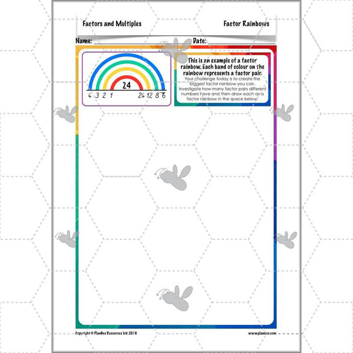 PlanBee Factors & Multiples - Year 5 Maths Planning and Resources from PlanBee
