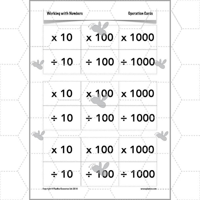 Working with Numbers: 10, 100 and 1000
