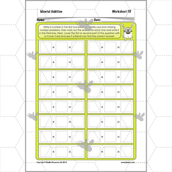 PlanBee Mental Addition: KS2 Maths Addition and Subtraction Year 3