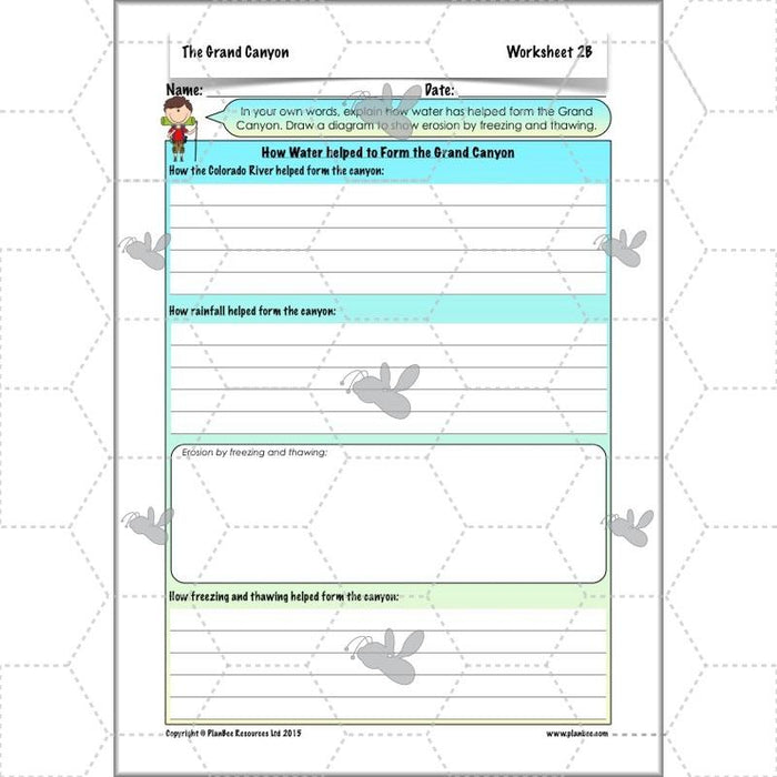 PlanBee The Grand Canyon KS2 Geography Lesson Plans