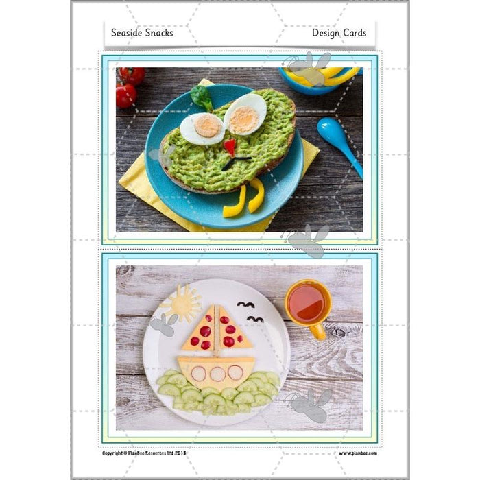 PlanBee Seaside Snacks: Primary DT Cookery Lessons for KS1 from PlanBee