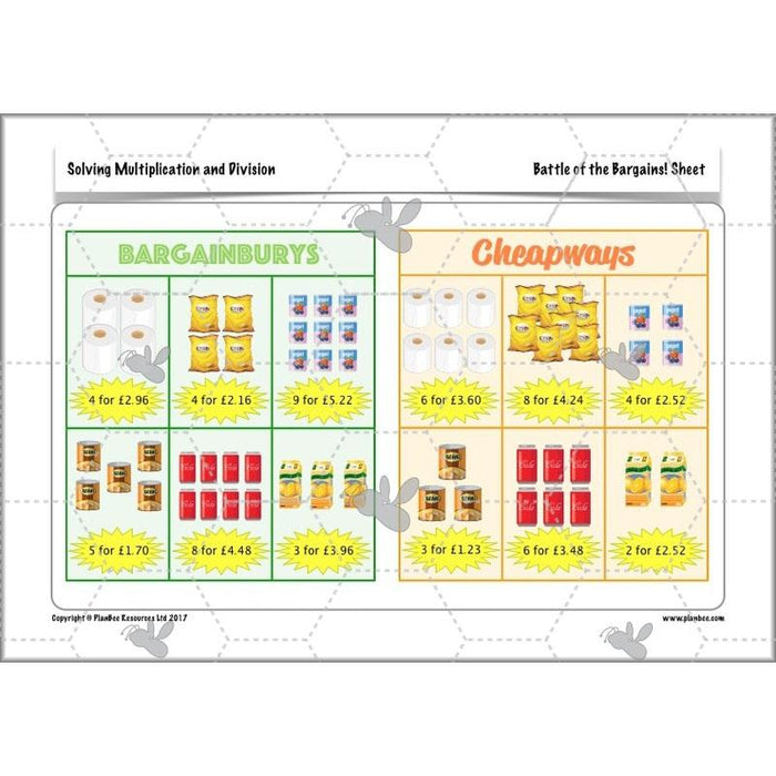 PlanBee Solving Multiplication & Division - KS2 - Year 5 Maths Planning