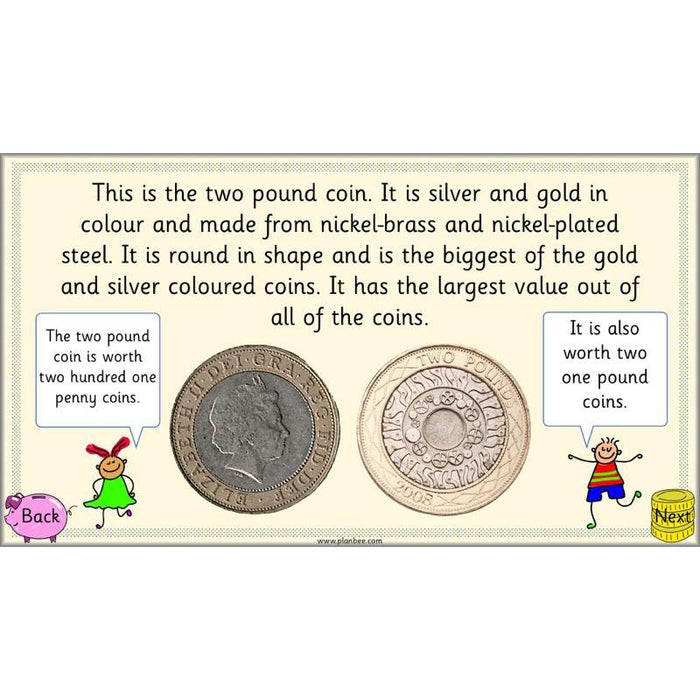 PlanBee Can you recognise coins? Year 1 money planning and activities