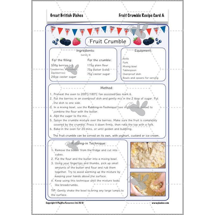 PlanBee Great British Dishes: KS2 DT scheme of work by PlanBee