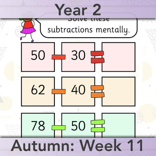 PlanBee How Can We Subtract Numbers? Maths scheme of work for Year 2