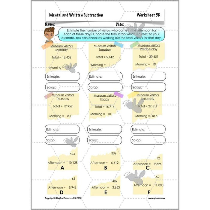 PlanBee Mental & Written Subtraction - Year 5 Maths Planning PlanBee