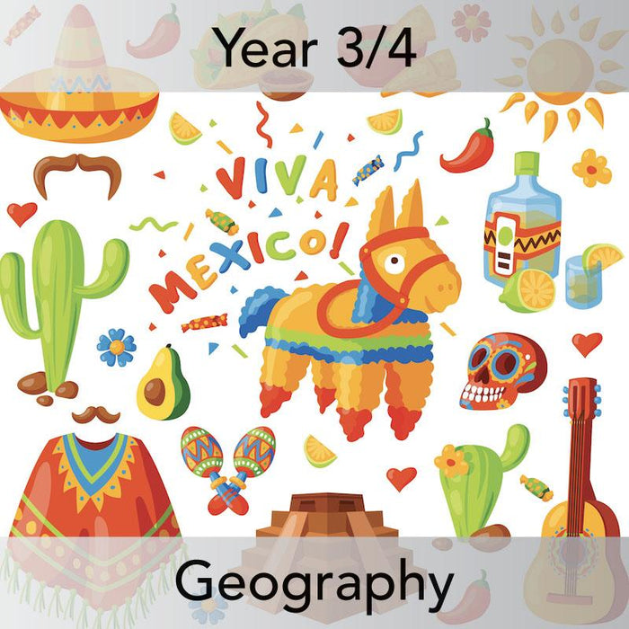 PlanBee Mexico Today: Year 3 & Year 4 Geography Planning for KS2