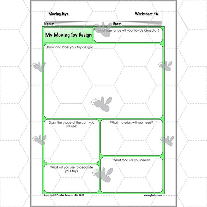 PlanBee Moving Toys KS2 DT Lessons for Year 5 | Cam Mechanisms