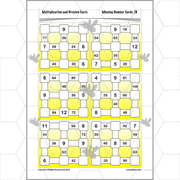 PlanBee Multiplication and Division Facts - Times Tables | Year 4 Maths