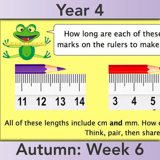 PlanBee Recording Length - Measurement Maths Lessons for Year 4