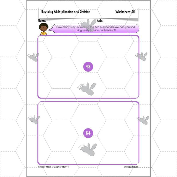 PlanBee Revising Multiplication and Division: Maths Lesson Plans for Year 4