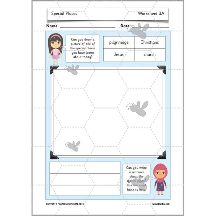 PlanBee Places of Worship & Pilgrimages: KS1 RE Lesson Plans | Year 1 & Year 2