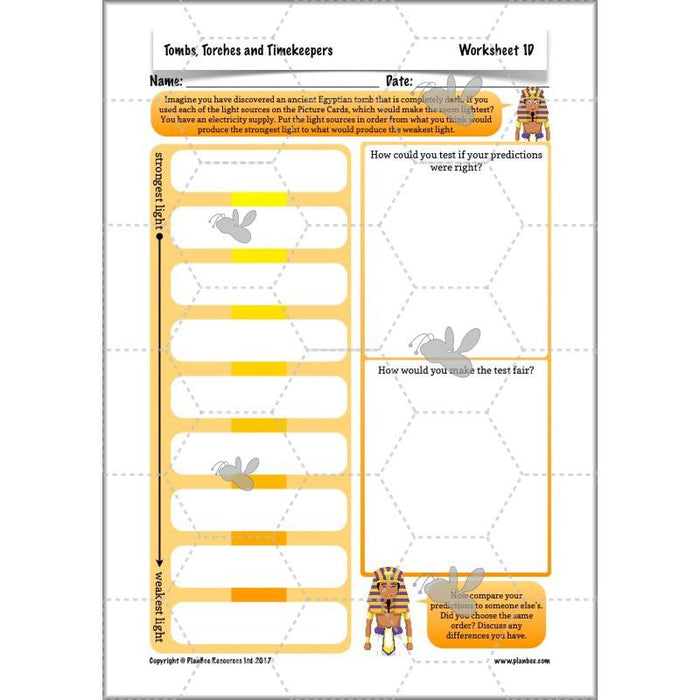 PlanBee Ancient Egypt Science - Light and Shadow: Year 3 Science