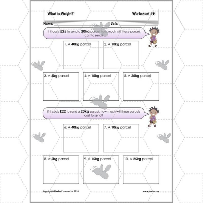 PlanBee What is Weight? Complete Primary Maths Lessons for Year 3