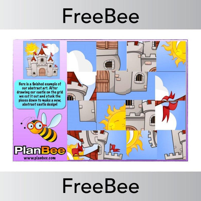 PlanBee Abstract Art Grid | PlanBee FreeBees