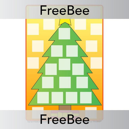 PlanBee Free printable Advent calendar template for children