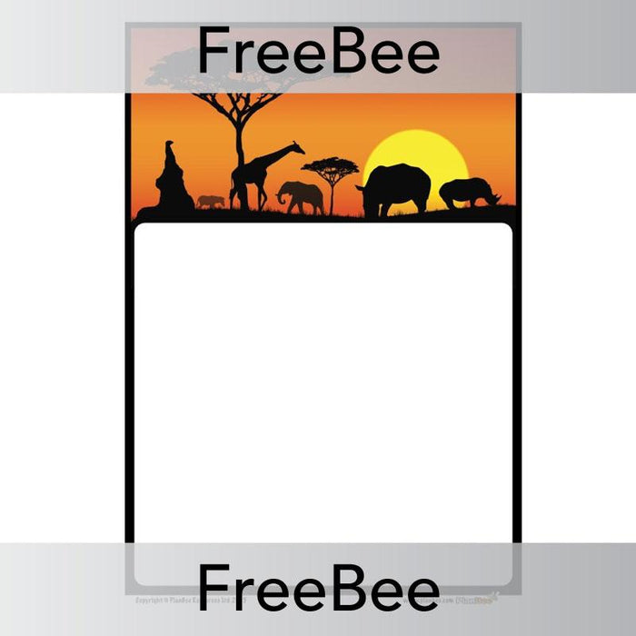PlanBee African Art Writing Frame | PlanBee FreeBees