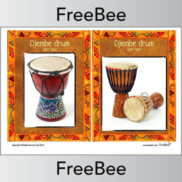 PlanBee African Instruments Posters | Free KS2 posters