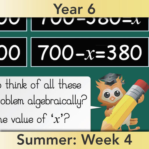 PlanBee Algebra: simple algebra lesson planning for Year 6