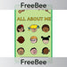 PlanBee All About Me Topic Cover | FreeBees | PlanBee