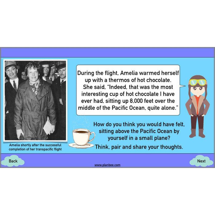PlanBee Amelia Earhart KS2 Special People Lesson by PlanBee