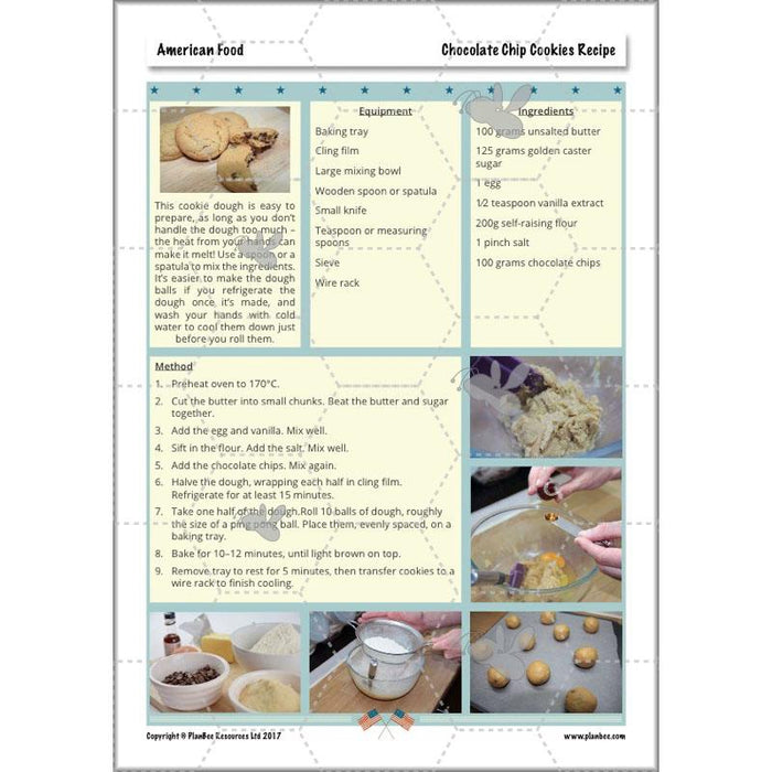 PlanBee American Food - DT Cookery Lessons for KS2 from PlanBee