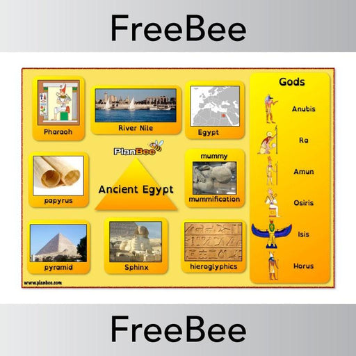 PlanBee Ancient Egyptians Word Bank | PlanBee FreeBees