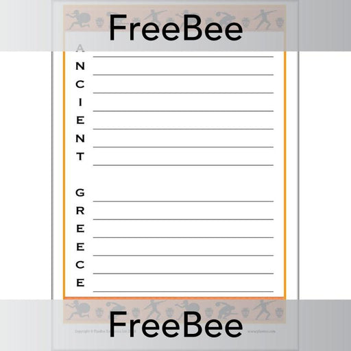 PlanBee Ancient Greece Acrostics | PlanBee FreeBees