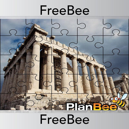 PlanBee Ancient Greece Reward Jigsaw | PlanBee FreeBees