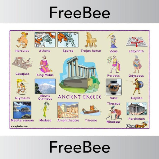 PlanBee Ancient Greece Word Bank | PlanBee FreeBees