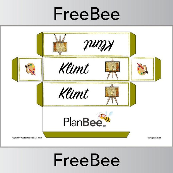 PlanBee Free printable famous artist group name labels by PlanBee