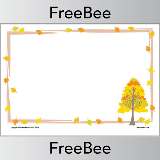 PlanBee Download these FREE Autumn Writing Frames by PlanBee