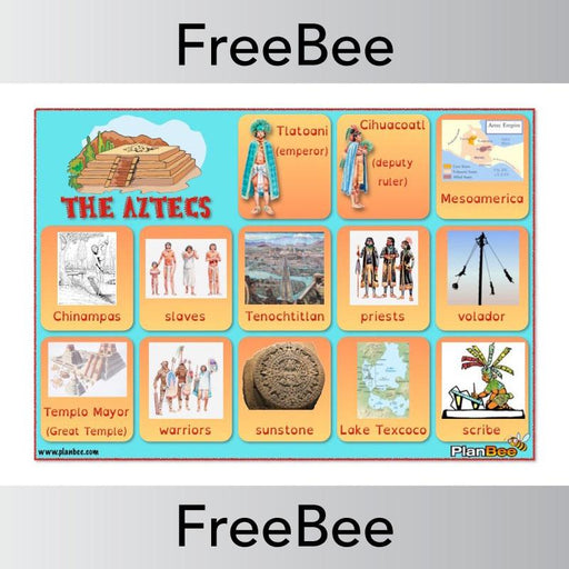 PlanBee Aztecs Word Bank | PlanBee FreeBees