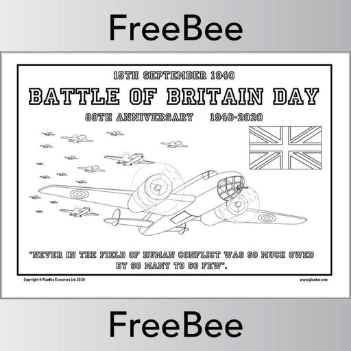 PlanBee Free Battle of Britain printables pack by PlanBee