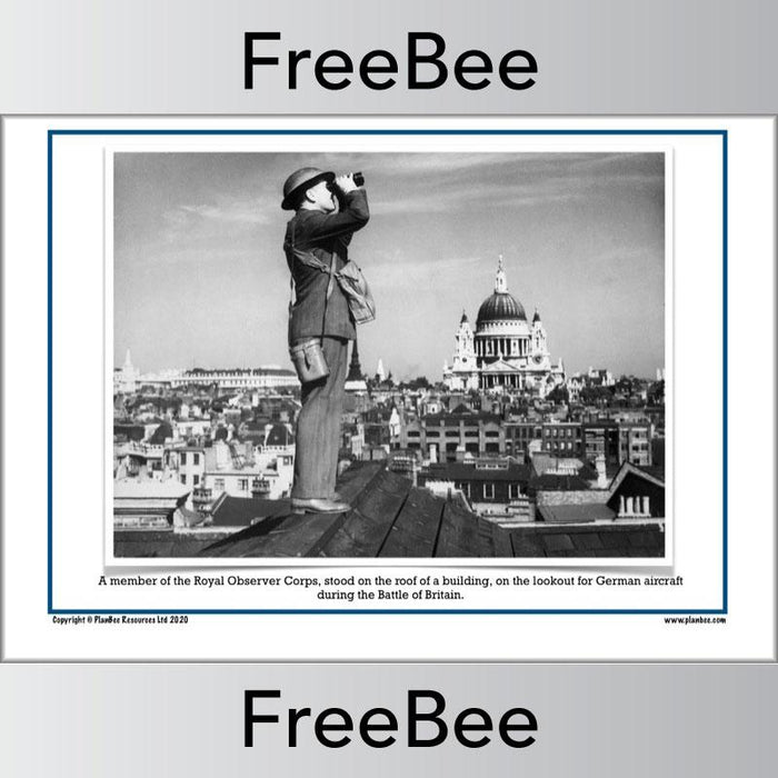 PlanBee Free Battle of Britain Images and Photo Card Pack by PlanBee