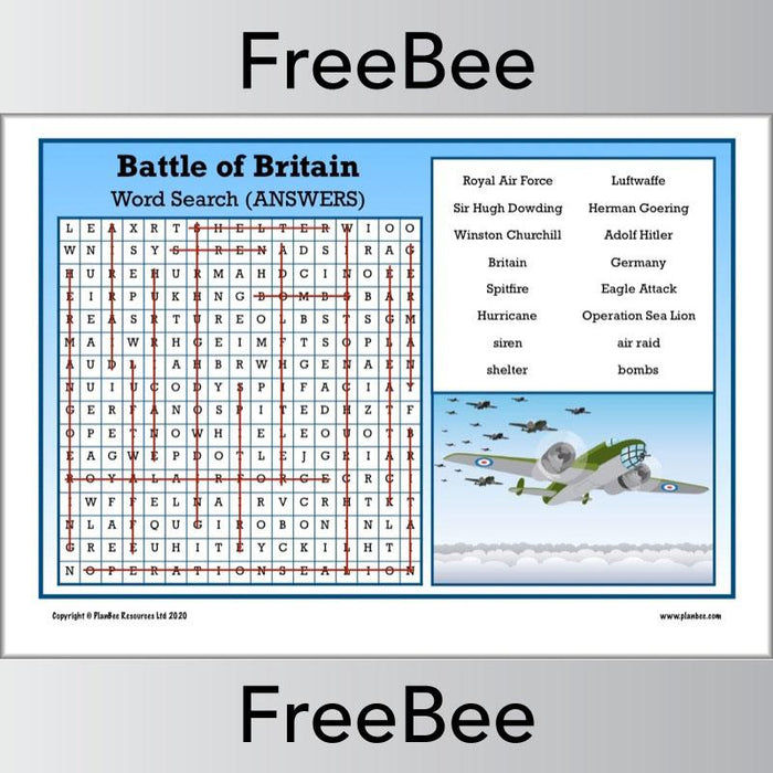 Battle of Britain Word Search