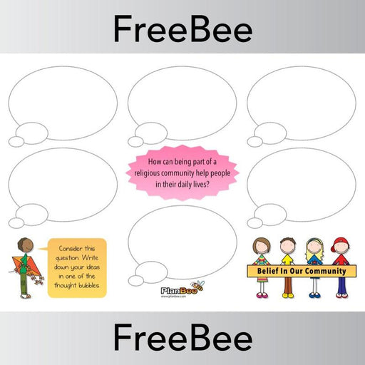PlanBee Belief In Our Community | Display Pack | PlanBee FreeBees