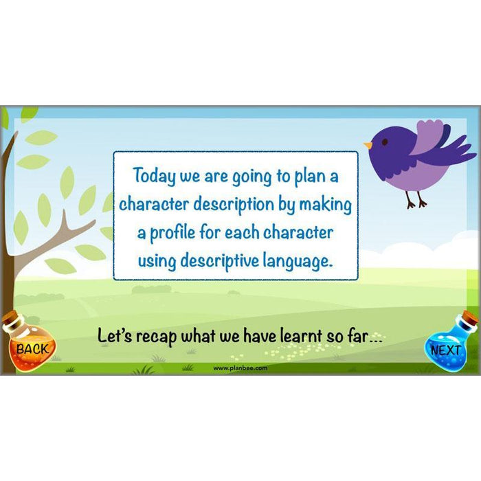 PlanBee The BFG Character Description | Planning and Resources | Year 3