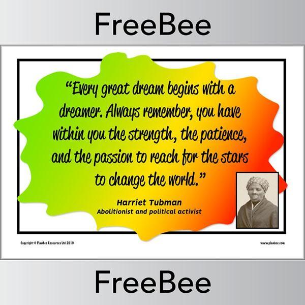 PlanBee Free Black History Month Posters for Kids by PlanBee